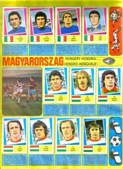 World Cup 1978 FKS Album: Hungary