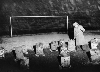 1938 - Bolton Wanderers braziers at Burnden Park