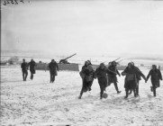 1939 - British troops play in the snow in France
