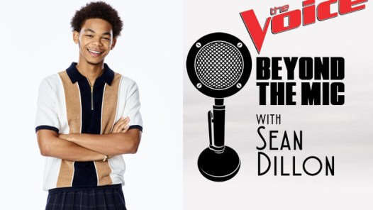 Cam Anthony from NBC's The Voice along with the Beyond the Mic Logo