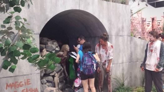 Participants enter the Walking Dead experience