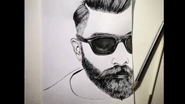 Man with a Beard Drawing