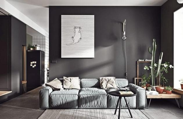 Modern Living Room Color Black
