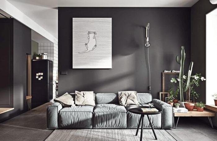 Modern Living Room Color Black