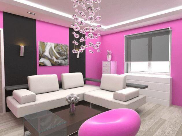 Pink Living Room Color
