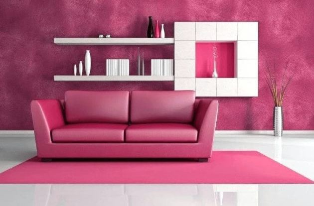 Pink living Room Color Ideas