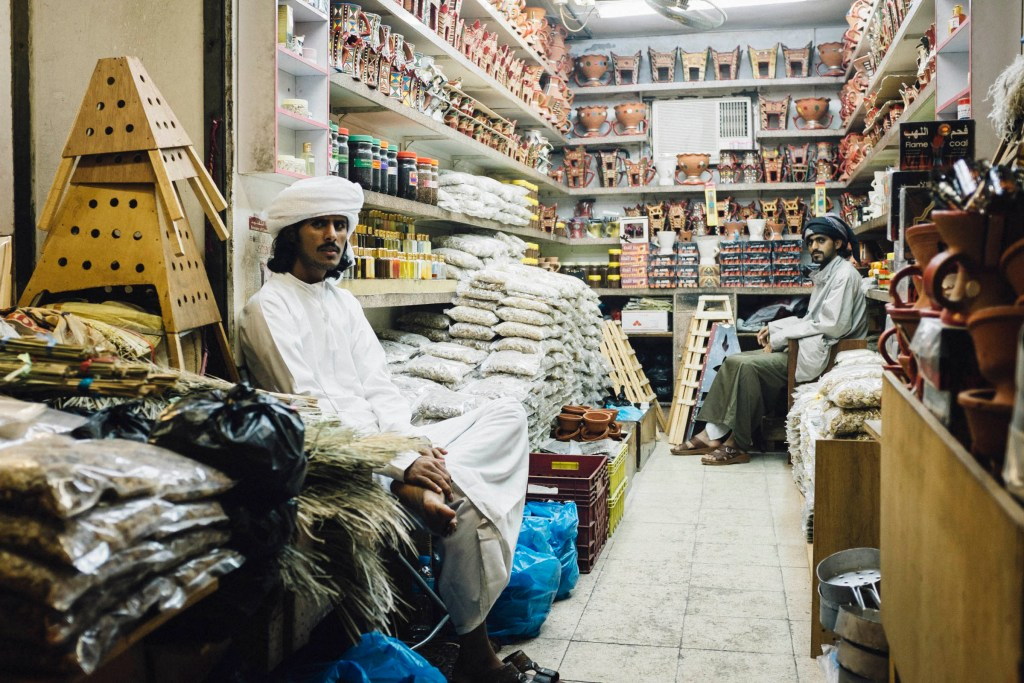 Dhofari Men Selling Frankincense