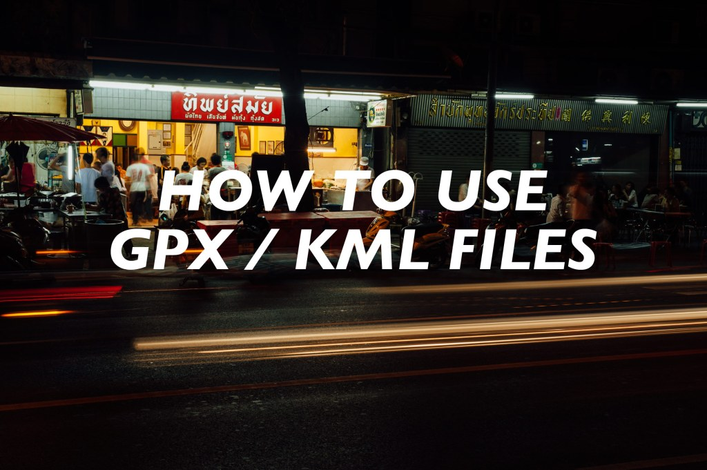 How to Use GPX / KML Files - Beyond the Route - Oman Travel