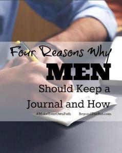 How to start a journal and 4 reasons why men should keep a journal.