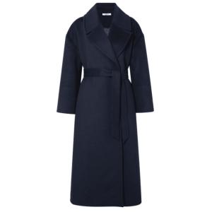 GANNI Brushed wool-blend coat