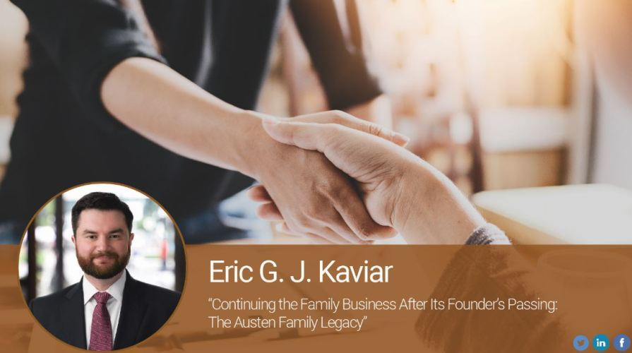 Continuing the Family Business After Its Founder's Passing: The Austen Family Legacy