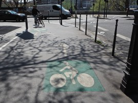 bike lanes Paris