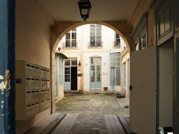 Courtyard entrance in the Marais