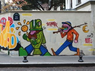 Street art in Butte aux Cailles