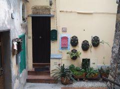 April - plants and post boxes in Ventimiglia