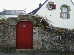 May - not all doors in St Goustan are Breton blue