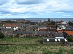 And a view over the rooftops of Spittal, from the top of our garden-to-be - taken this afternoon.