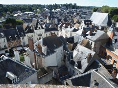 The village of Amboise, seen from the castle that towers above it - October 2016