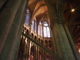 The soaring columns and tall arched windows are impressive to modern eyes but must have seemed out of this world to medieval visitors.