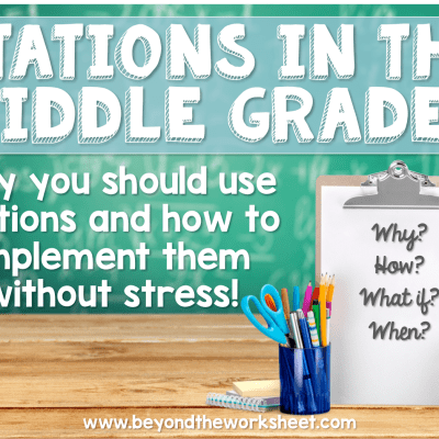 Stations in the Middle Grades