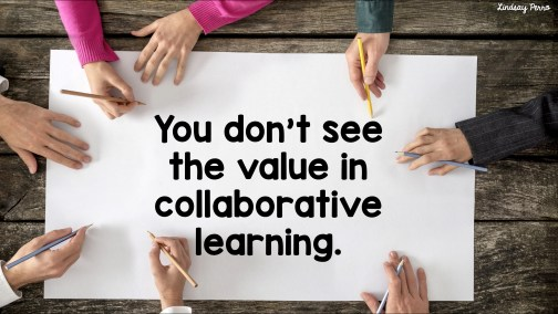 No value in collab learning