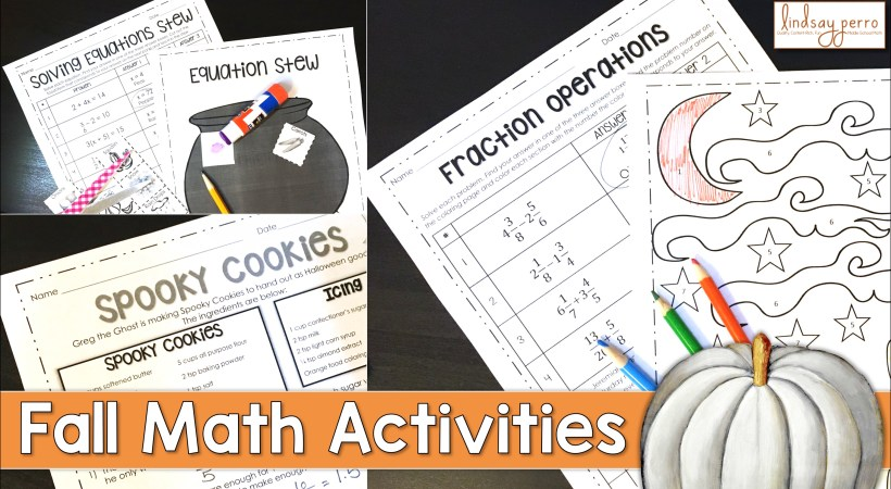 Halloween Activities in the Middle School Math Classroom