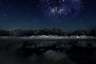 Night skies, Slovenian Alps