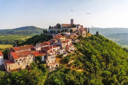 Medieval Hilltop Town Motovun, Croatia