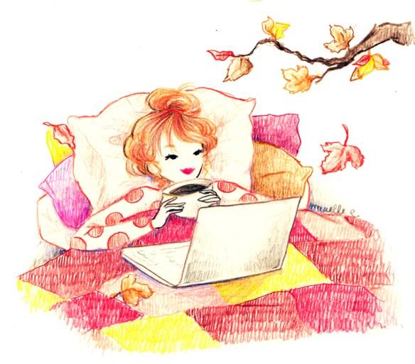 Jolis dessins : autumn leaves Maëlle R