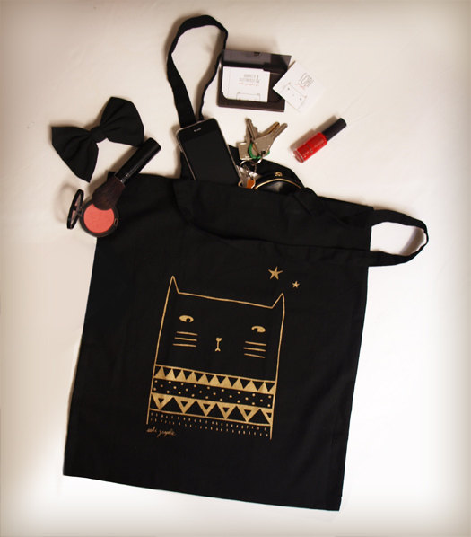 tote bag de la rentrée golden cat sobigraphie