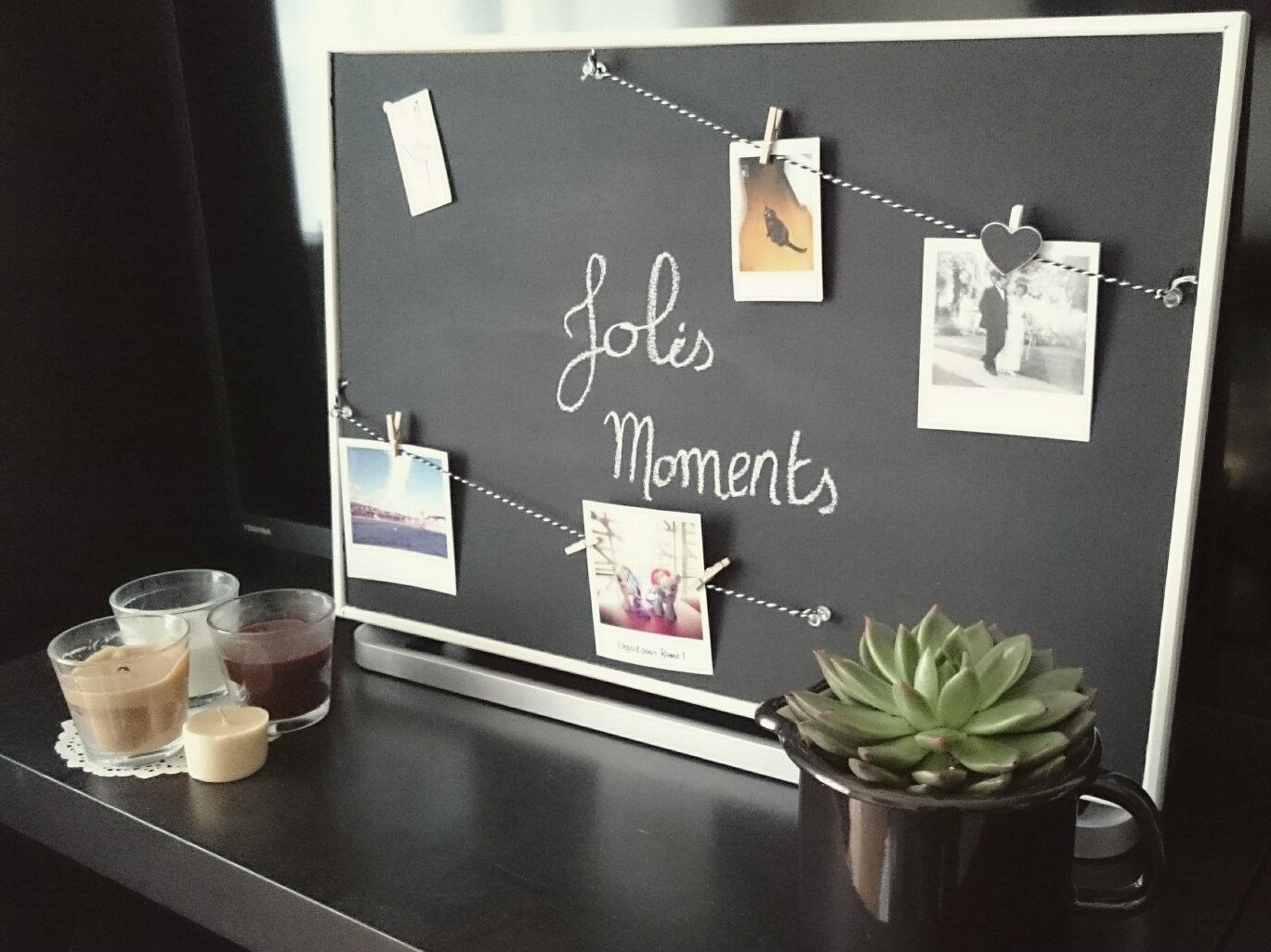 Panneau En Liège Ikea diy déco : tableau photos et ardoise