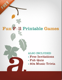 Free Fun Fall Printables E-Book