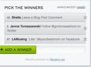 Winners! Gorton's Seafood