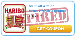 $0.30 off 4 oz. or larger HARIBO product