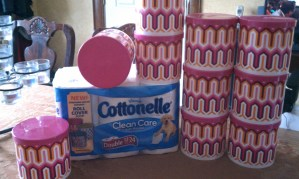 Cottonelle, Cocktails, and Toilet Paper Roll Art