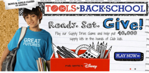 Back to School Drive Game with Disney and BGCA #Tools4BTS #Sponsored