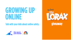 #Giveaway Growing Up Online Free eBook & The Lorax Blu-ray