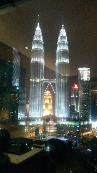 The Petronas Towers, view from my hotel room!
