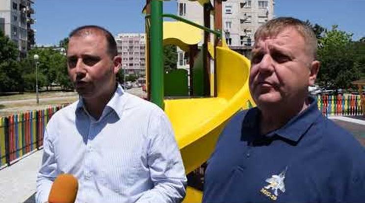 Борислав Инчев и Красимир Каракачанов откриха нова детска площадка
