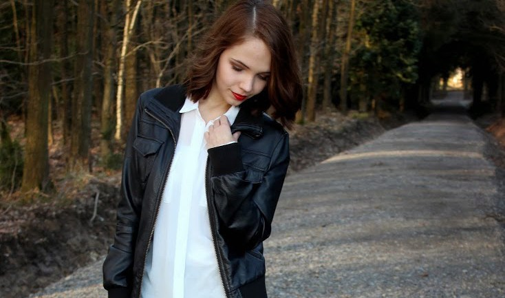 Outfit: Leather and Print
