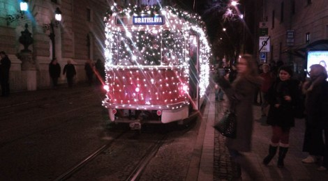 Christmas Tram Bratislava