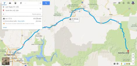 Directions from Las Vegas to Grand Canyon