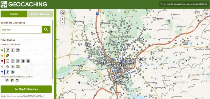 The Map of Geocaches