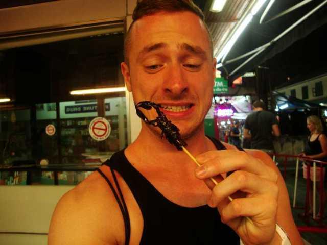 Bangkok eating scorpio