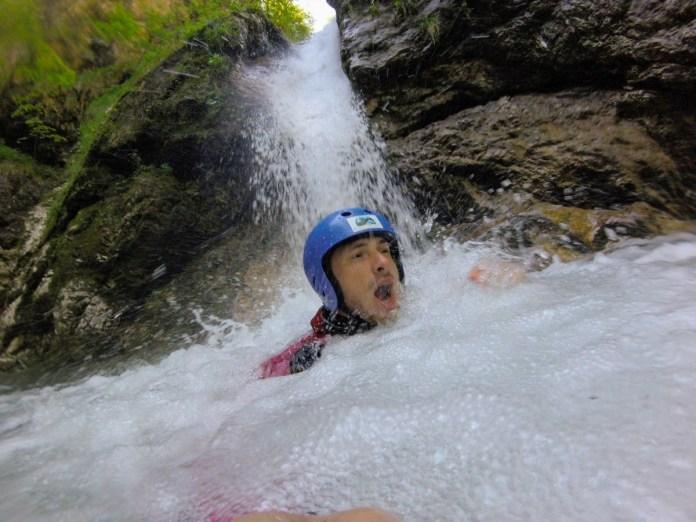 Canyoning v Slovinsku