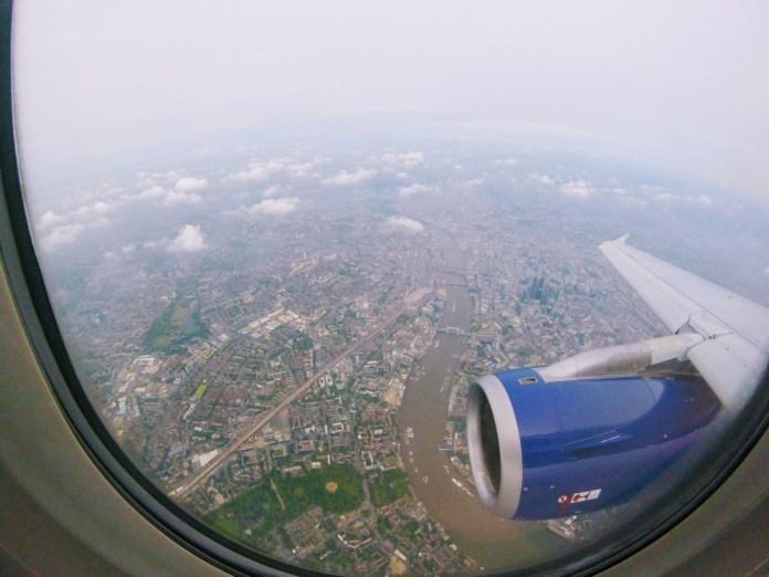 londýn z lietadla