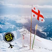 грузия фото, грузия горнолыжный курорт, горнолыжный курорт в грузии, фотография горы, снег фото, грузия флаг, фото флага грузии, гудаури, отдых в гудаури