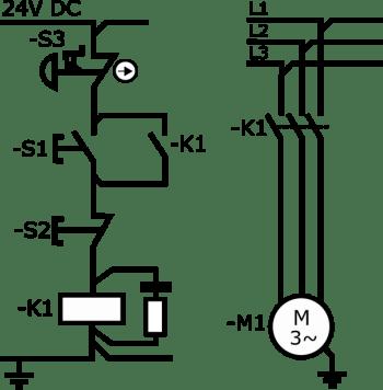Stosowanie przekaźników bezpieczeństwa - układ start-stop z podtrzymaniem kat. 1
