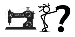 Meine Nähmaschine – das unbekannte Wesen