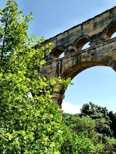 View of arches at Pont du Gard france